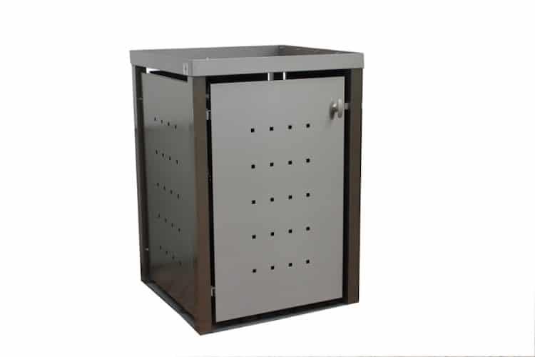 Pflanzdach für Mülltonnenbox mit Vierkantpfosten