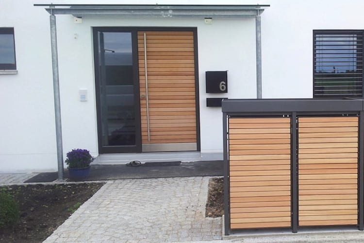 2er Mülltonnenbox Holz – Mülltonnenbox für 2 Mülltonnen