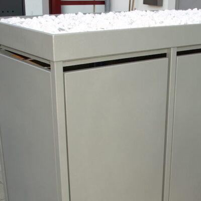2er Mülltonnenbox Alu ohne Lochung