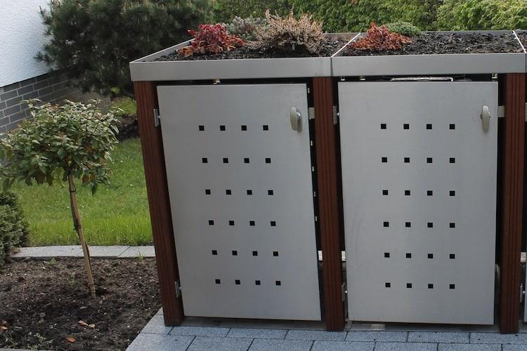 Pflanzdach für die Mülltonnenbox
