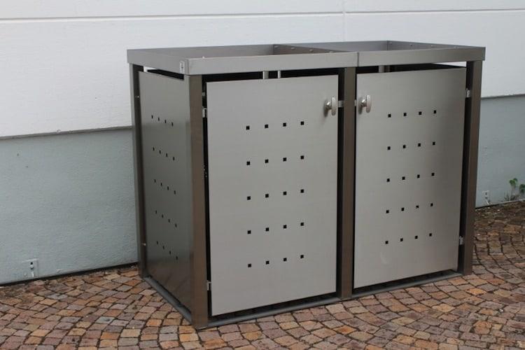 Pflanzdach Mülltonnenbox Vierkantpfosten