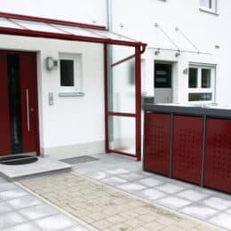 Mülltonnenbox Alu