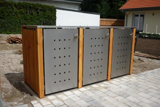 Mülltonnenbox Holz Lärche / Douglasie