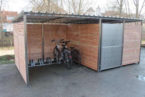 Fahrradgarage mit Fahrrad