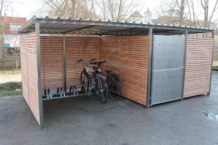 garage f r fahrrad fahrradunterstand von zaun fackler m nchen. Black Bedroom Furniture Sets. Home Design Ideas