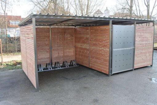 Fahrradgarage mit Fahrradstaender