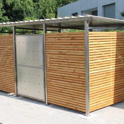 Mülltonnenverkleidung Holz Douglasie - Container Haus Holz Douglasie
