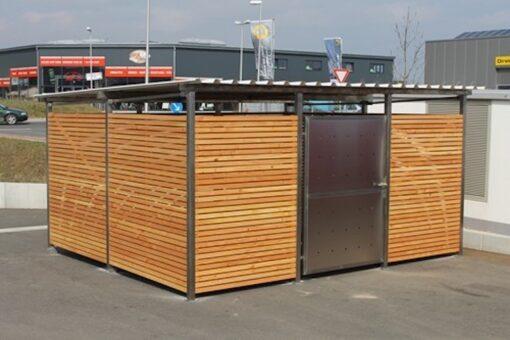 Muelltonnenverkleidung Holz Douglasie Groesse 3
