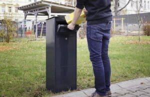 Paket-Briefkasten Einwurf