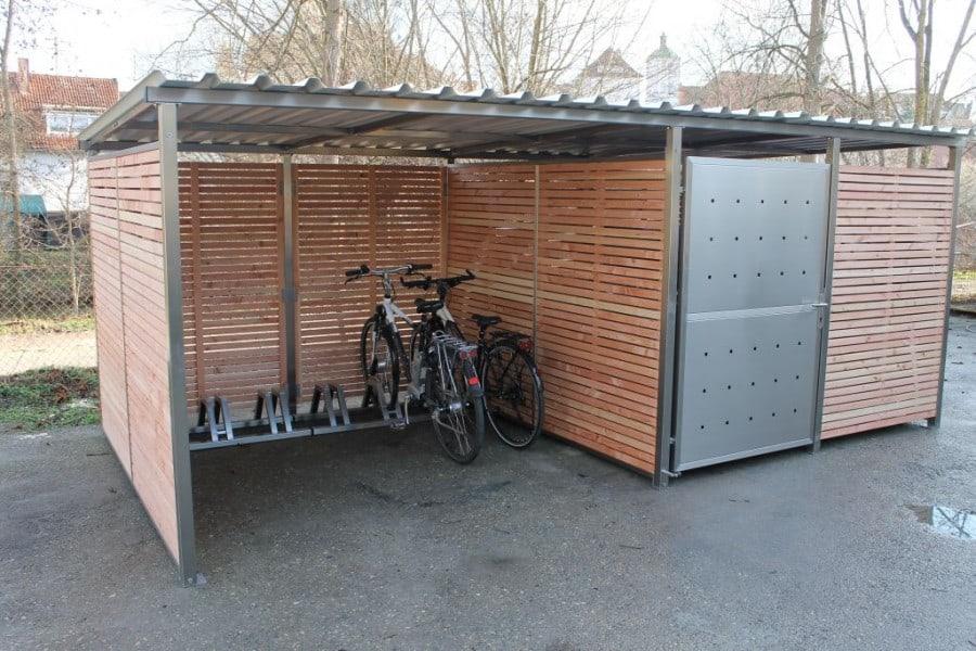 Fahrradgarage für Galabau, Zaunbau, Hausverwaltung, Immobilienmakler, Wiederverkäufer