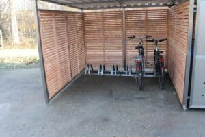 Fahrradständer für 6 Fahrräder - Fahrradgarage Metall - Fahrradunterstand Metall - Metall Fahrradbox - Fahrradschuppen Metall