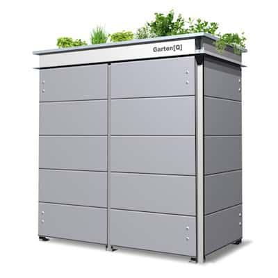 Mülltonenbox Trash Mid Grey Pflanzdach