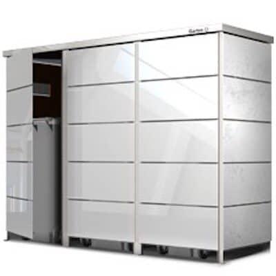 Mülltonnenbox Glas Türen