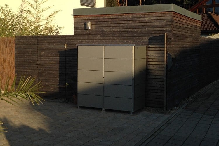 Mülltonnenbox Trash Aluminium Grey Metallic