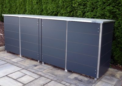Mülltonnenbox Trash Anthrazit Flachdach