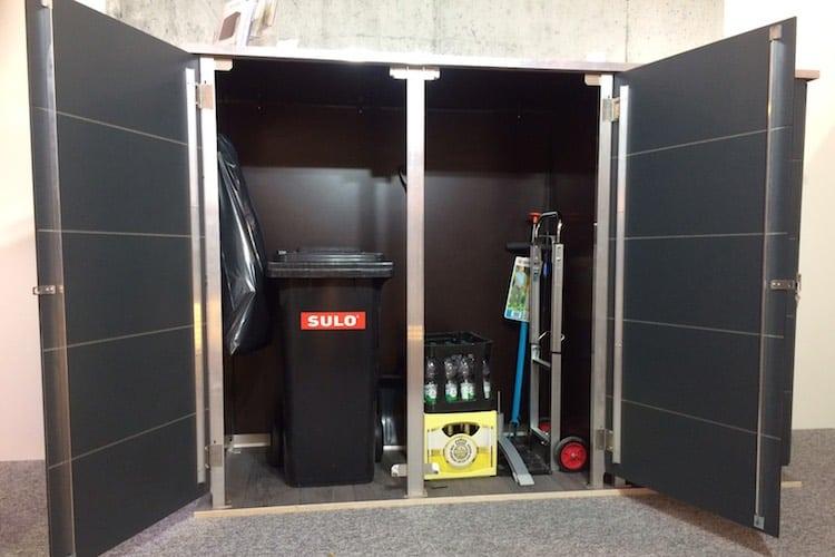 Mülltonnenbox Trash Anthrazit offen