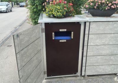 Mülltonnenbox Trash Einwurf Müllsack