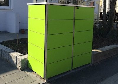 Mülltonnenbox Trash Lime Green