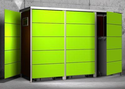 Mülltonnenbox Trash Lime Green offen