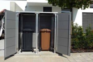 Mülltonnenbox Trash Mid Grey offen Mülltonnenbox HPL