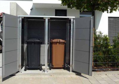 Mülltonnenbox Trash Mid Grey offen