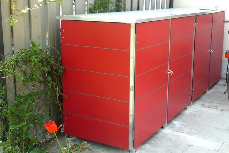 Mülltonnenbox Trash Passion Red