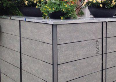 Mülltonnenbox Trash Woodstone Paketkasten