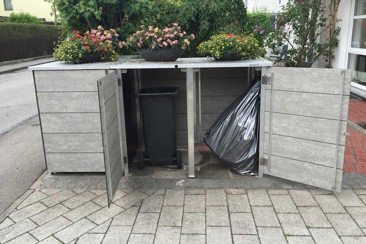 Mülltonnenbox Trash gelber Sack