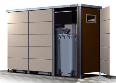 Mülltonnenbox Trash mit Einwurf