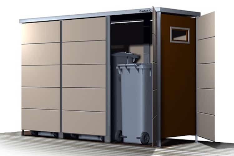 Mülltonnenbox Trash mit Einwurf - Mülltonnenboxen aus HPL
