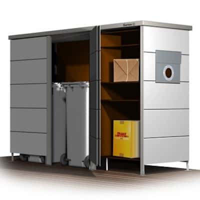 paketbriefkasten trash paketbriefkasten hpl von zaun. Black Bedroom Furniture Sets. Home Design Ideas