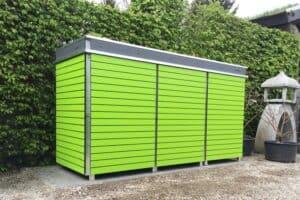 Mülltonnenbox Shop - Mülltonnenbox Trash schmale Streifen Lime Green