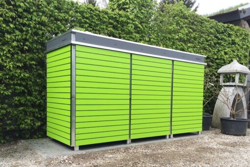 Mülltonnenbox Trash schmale Streifen Lime Green