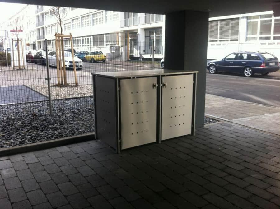 Abstellflächen für Mülltonnenbox Edelstahl