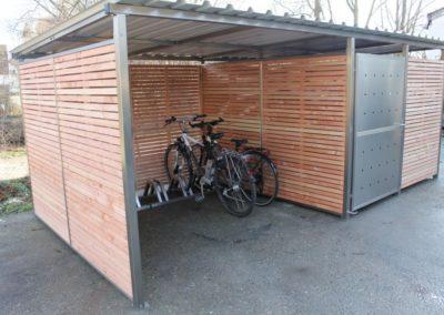 Fahrradgarage Holz Douglasie