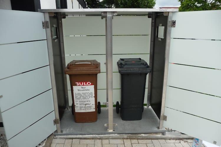 Mülltonnenbox Glas