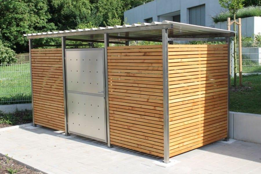 Mülltonnen-Haus für Galabau, Zaunbau, Hausverwaltung, Immobilienmakler, Wiederverkäufer