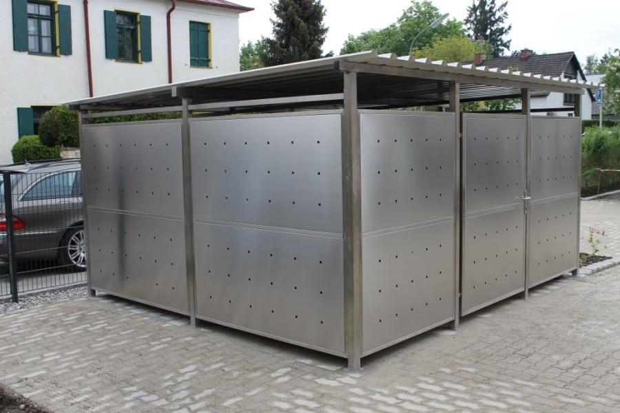 Mülltonnenverkleidung Edelstahl