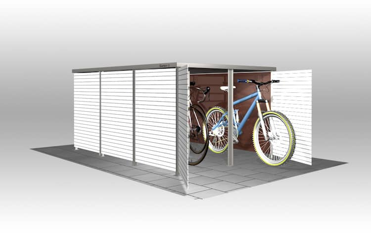 fahrradbox hpl box f r fahrrad hpl von zaun fackler m nchen. Black Bedroom Furniture Sets. Home Design Ideas