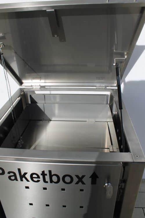 Paketbox abschliessbar