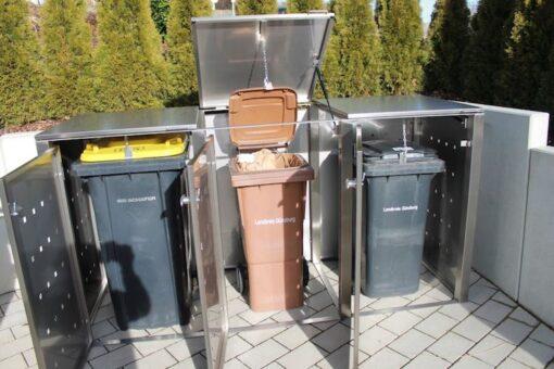 Müllcontainer Edelstahl 120 l und 240 l