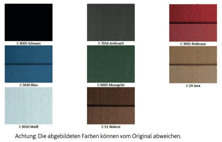 Farbpalette 2018 Mülltonnenbox Kunststoff