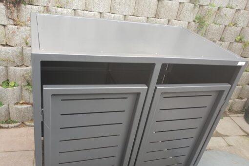 2er Mülltonnenbox Flachdach