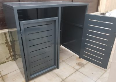 2er Mülltonnenbox Metall offen