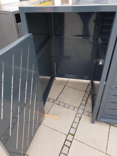 Mülltonnenbox Metall Innenansicht