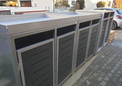 Pflanzdach auf Müllbox vernietet