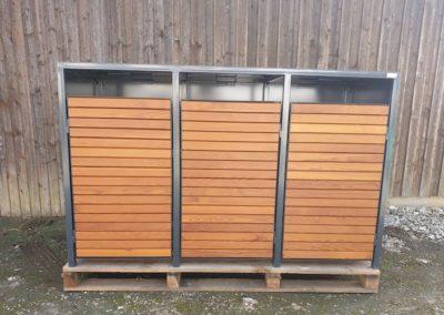 3er Mülltonnenbox Thermkiefer