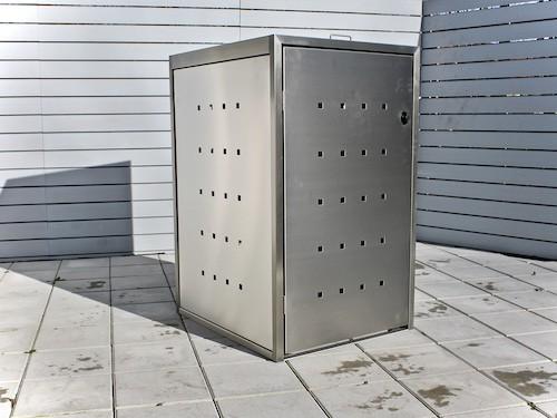 1er Mülltonnenbox Edelstahl ECO-MAX
