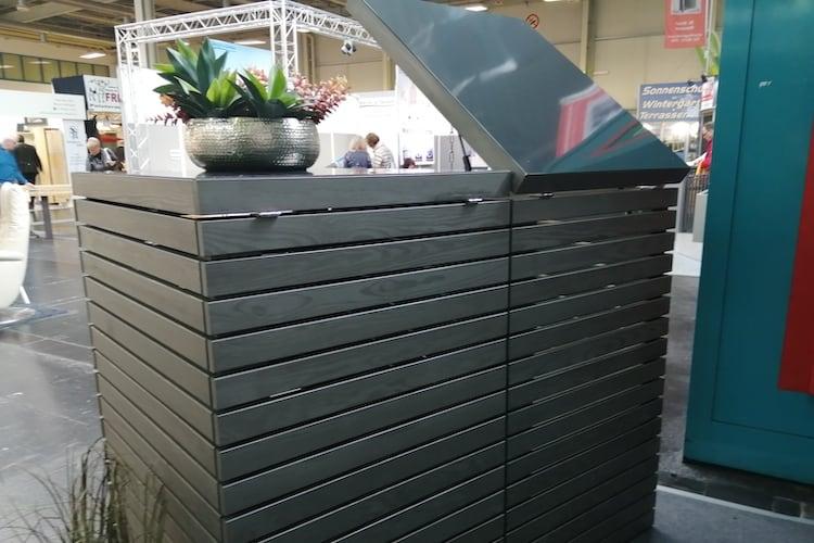 2er Mülltonnenbox Klappdach