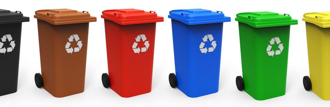 Mülltonnen alle Farben Fotolia_@Thomas_Söllner_79704378_Mülltonnen